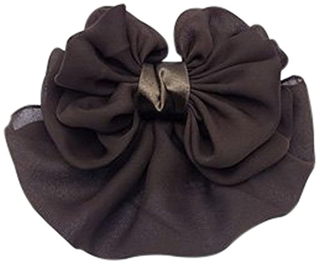 最後にフォーカス海上美人髪 リボン バレッタ(ネット付) もこもこリボン/カバー付