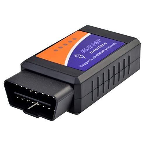 OBD2 Bluetooth Lettore Diagnosi per Auto Italiano Strumenti diagnostici per Motore OBD-II per BMW, Audi, Ford, Mercedes Benz, VW, Supporto Android & Symbian & Windows