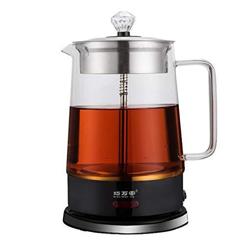Teekocher Elektrisch 1.8L 2 in 1-Tee-und Wasserkocher Automatic Tea Maker mit Permanent-Edelstahl-Teefilter (herausnehmbar) Glaskanne,Brüh-Funktion (Teeaufbereiter700w)