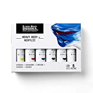 Liquitex Professional Heavy Body Acrylic Paint Set, Classic 6