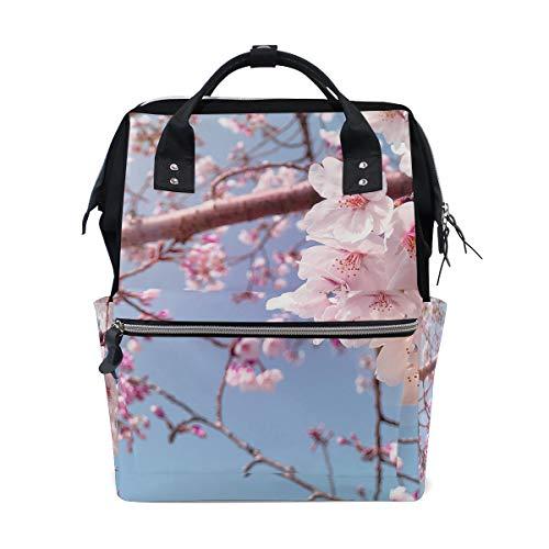 Roze Sakura Bloesem Bloem Luiertas Rugzak voor Moeder Grote Unisex luiertassen Baby Care Reizen Rugzak Outdoor School Laptop Tas