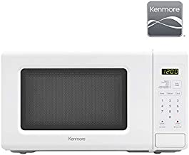 Kenmore 70722 0.7 cu. ft Compact 700 Watts 10 Power Settings, 6 Heating Presets, Removable Turntable, ADA Compliant Small Countertop Microwave, White