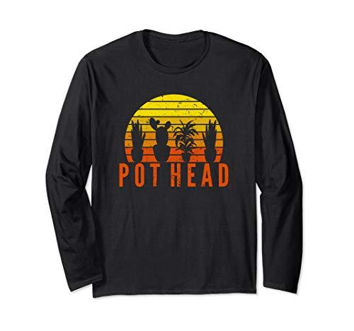 Garten Pot Head | Gartengeschenk für Gärtner Langarmshirt