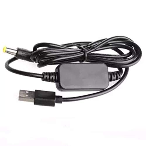 Cable convertidor DC-DC USB 5V a 12V DC Jack 5.5Mmx2.1Mm Módulo de Potencia Elevador Negro
