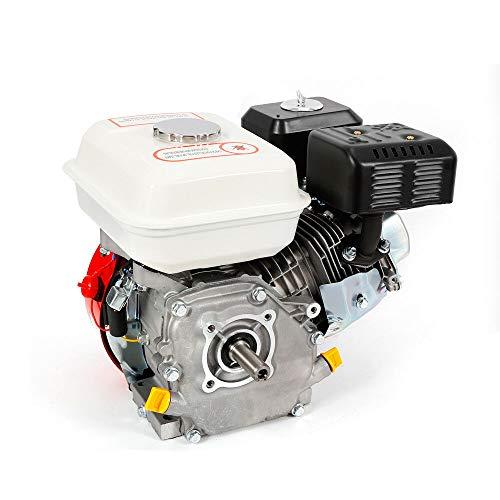 Motor de gasolina, 7,5 CV, 5.1 kW, motor de pie, 20 mm de diámetro de onda, 4 tiempos, refrigerado por aire, 1 cilindro de accionamiento