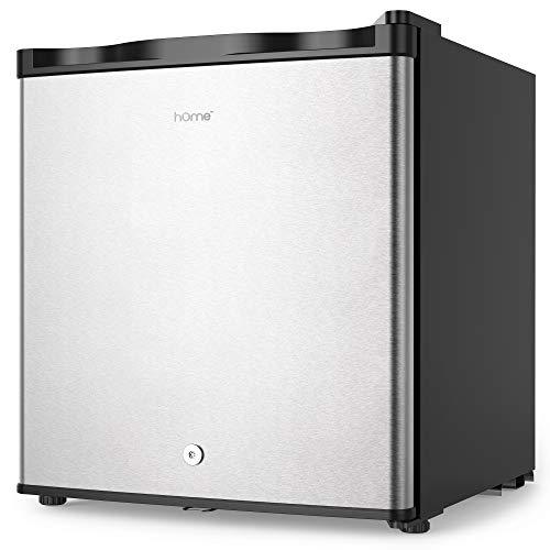 hOmelabs Upright Freezer - 1.1 Cubic Feet Compact Reversible Single Door Vertical Freezer