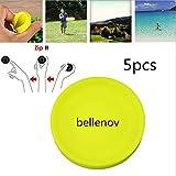 BELLENOV 5pcs Mini Frisbee, Flying Disc, Mini Pocket, Zipchip Frisbee Spin Catching Game Deporte Disco Volador Empujar UFO para Adultos Niños, Juguetes Voladores