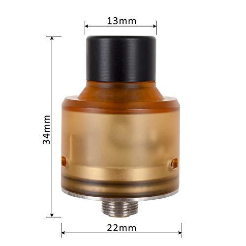 Wolfteeth RDA Clone Hadaly 22mm, Dripping Atomizador Dual Coil, Agujero de aire ajustable + Tanque PEI anti-escaldado, Sin Nicotina Ni Tabaco, Amarillo translúcido 121105