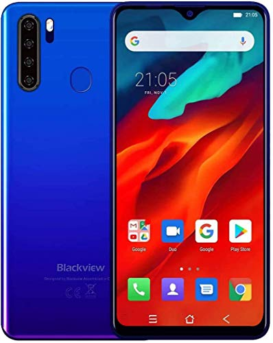 Unlocked Smartphone Blackview A80 Pro, 6.49 inch HD+, 4GB RAM+64GB ROM with 4680mAh Big Battery, 4G Dual SIM for AT&T, T-Mobile, Cricket Phone,13MP Quad Rear Camera, Android 9.0 Unlocked Cell Phones