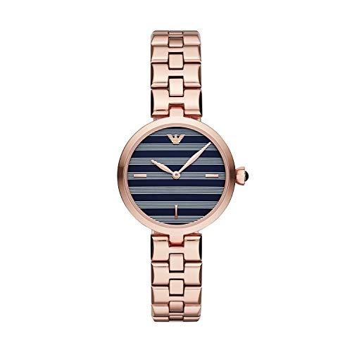 Emporio Armani Damen Analog Quarz Uhr mit Edelstahl Armband AR11220