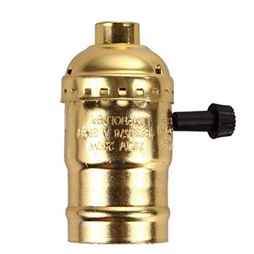 YITEJIA-LIGHTBULBS hoogwaardig LED-licht aluminium Shell Edison Retro hanglamp houder voor lamphouder en vervanger lamp, industrieel vintage met knop schakelaar E27 gloeilamp sokkel