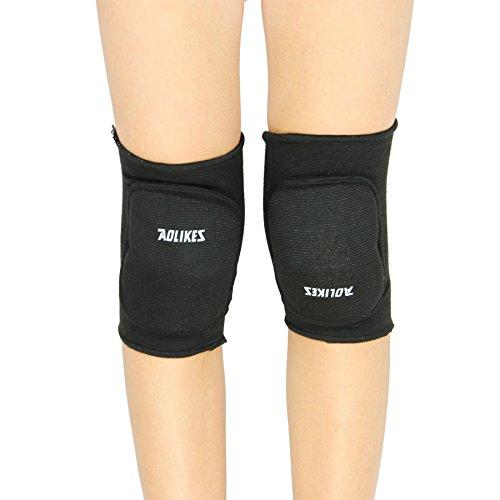 Rodilleras de niño, en algodón, caliente suave y transpirable para danza, Yoga, correr, deporte, etc. Unisex, negro, 3/8 ans