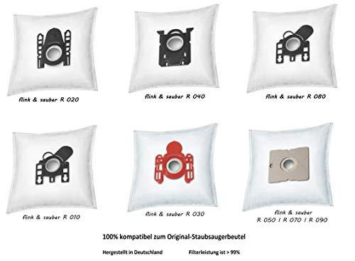 rs-products I Staubsaugerbeutel kompatibel zu ROSSMANN flink & sauber R 050 I R050, R 070 I R070, R 090 I R090 (10x DA 6)