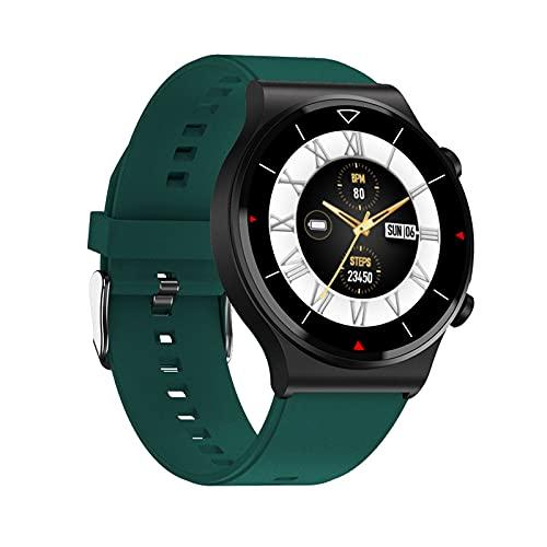 スマートウォッチ 通話機能 Bluetooth通話 活動量計 歩数計 腕時計 睡眠検測 電話をかける 着信通知 スマホ探し防水 目覚まし時計 ios&Android 対応 グリーン