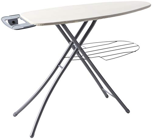 Homz Professional Ironing System, 48.5 x 18.3 x 39.2 Inches, Platinum Leg with...
