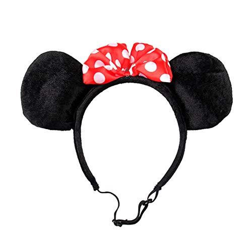 JGHH Joyería de la Flor del Perro casero Tiara Mickey Mouse Mascota Cabeza del aro del Gato Bola Vacaciones de Vestir Anillo del Pelo de Mascota