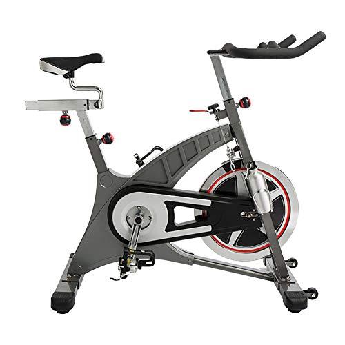 NXX Bicicleta Indoor,Volante De Inercia 20Kg,Reposabrazos Acolchados Pulsometro Sistema De Transmisión por Correa Y Motor Silencioso