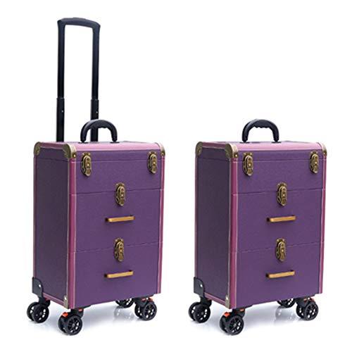 Boîte À Outils De Coiffure Haut De Gamme Nail Technician Trolley Case Cosmétiques Beauty Trolley Box Travel Makeup Case Storage Box,B