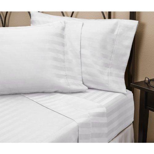 Juego de sábanas de algodón egipcio de 800 hilos, color blanco