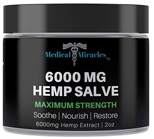 Medical Miracles Hemp 6000 Mg Maximum Strength Healing Salve   100% Natural Cream