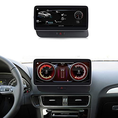 Android Autoradio Pantalla Tactil para Coche Built-In Wireless Carplay 10.25/12.5 Pulgadas Táctil GPS Navegación Car Audio Player Radio para Audi Q5 2009-2017,Original GPS,N600Plus