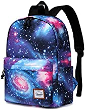 School Backpack for Girls,VASCHY Water Resistant Durable Casual Schoolbag Bookbag for Middle School Students in Blue Galaxy