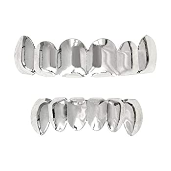 Careland 24K Plated Gold Grillz for Hip Hop Mouse Teeth Grills for New Custom Fit Top & Bottom Grill Set + 2 Extra Molding Bars