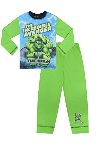 Marvel Boys Hulk The Incredible Avenger Pijama W19 Verde Verde 4-5 Años