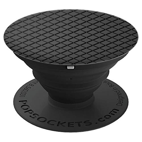 Black Geometric Phone Popper PopSockets Grip and Stand for Phones and Tablets