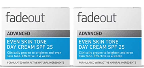 Fade Out Advanced Even Skin Tone Day Cream with SPF25 - Face Cream With Niacinamide and Lactic Acid to Brighten Skin tone in 4 weeks, 2 x 50ml