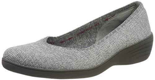 Skechers Women's KISS Closed Toe Ballet, Grey (Gray Flat Knit Gry), 3 (36 EU)