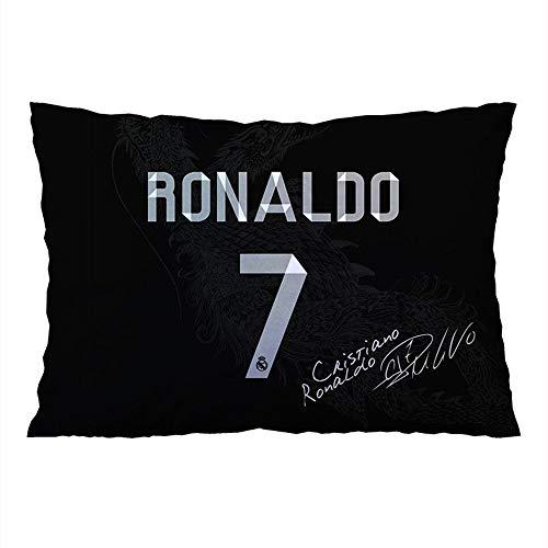 Funda de cojín de Cristiano Ronaldo - color negro