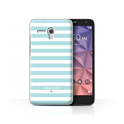 Stuff4Phone Case/Cover/Skin/alcfrxl/Custom Stripes/Striped Collection Coeur Rayure Bleu