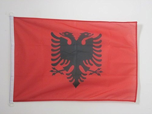 AZ FLAG Flagge ALBANIEN 90x60cm - ALBANISCHE Fahne 60 x 90 cm Aussenverwendung - flaggen Top Qualität