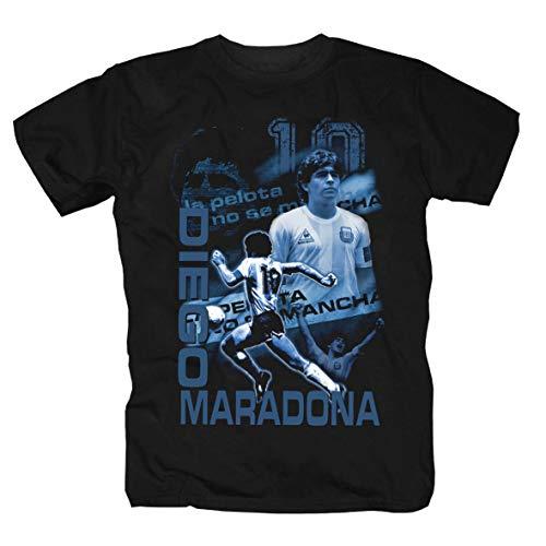 Diego Maradona Giocatore di Calcio culto Boca Juniors Camcia Maglietta Shirt Polo T-Shirt 3XL