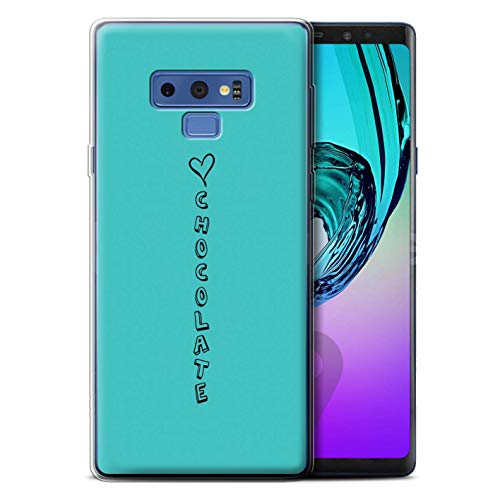 Stuff4® Phone Case/cover/Skin/SG-GC/Heart XOXO Collection Samsung Galaxy Note 9/N960 blauw/liefde chocolade.