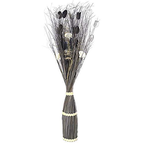 SIDCO Dekobündel schwarz Grasbüschel Schilfgras künstliche Pflanze Deko Ziergräser 1 m