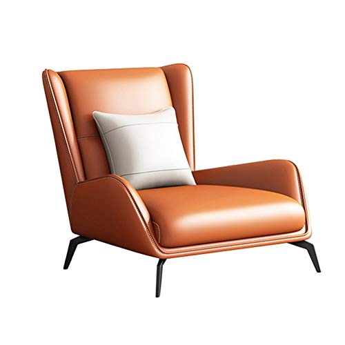 Gaming Chair High Back Bürostuhl Bürostuhl Rac Italienisch Minimalist Gelegenheits faules Sofa, Stuhl, Nordic Moderne Minimalist Tiger Stuhl-Wohnzimmer-Einzel mit Fuß Ledersessel ( Color : A )