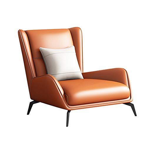 Household products Swivel Pub Esstheke Küchenstuhl Italienisch Minimalist Gelegenheits faules Sofa, Stuhl, Nordic Moderne Minimalist Tiger Stuhl-Wohnzimmer-Einzel mit Fuß Ledersessel (Color : A)