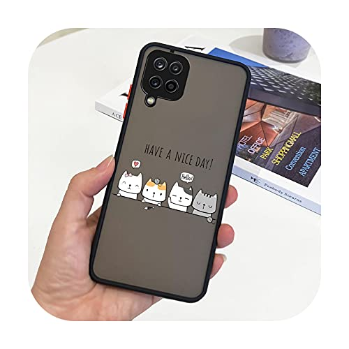 Funda para Samsung Galaxy A12 SM-A125F, funda rígida de silicona transparente, para Samsung A12 A 12 GalaxyA12 Bolsas-Negro 2016 para Samsung A12