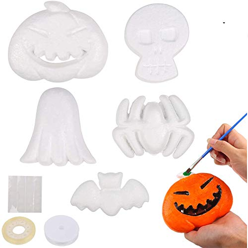 CCINEE 30PCS Halloween Foam Decoration Kit DIY Crafts in Assorted Shapes Pumpkin...
