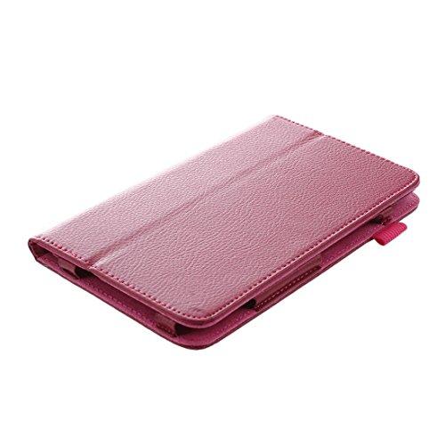 Gesh Funda de piel con función atril para tablet Galaxy Tab SM-T230 4 de 7 pulgadas, color rojo