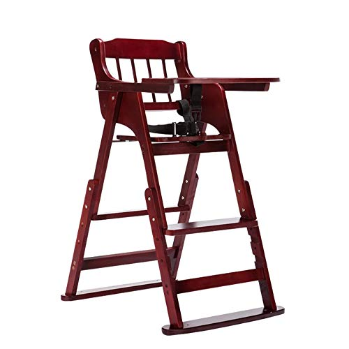 Great Price! XAJGW Wooden High Chair with Tray The Perfect Adjustable Baby Highchair Solution for Yo...