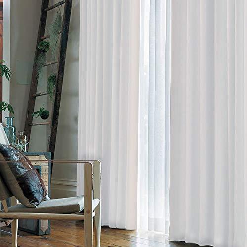 窓美人アラカルト1級遮光カーテンスノーホワイト幅100×丈178cm2枚組フックタッセル断熱省エネ高級感のある生地