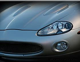 Black Stainless European Style Mesh Grille w Border for Jaguar XK8 XKR 1997-2004 models