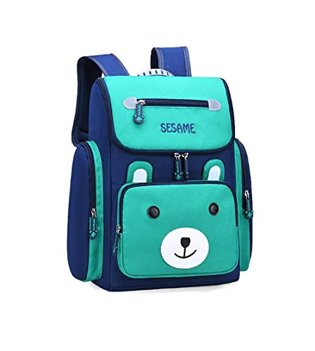 MEILIXIU Waterproof Cartoon Backpack, Four Colors and Sizes Are Available, Made of Nylon Material, School Supplies for Elementary and Middle School Students (Color : Green, Size : L)