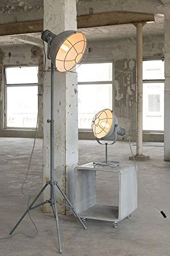 Stehleuchte Stehlampe Industrial Design mit Gitternetz in Grau