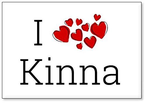 Mundus Souvenirs - Ich Liebe Kinna, Kühlschrankmagnet (Design 3)