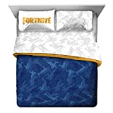 Jay Franco Fortnite Emote Camo 5 Piece Queen Bed Set - Includes Comforter & Sheet Set - Super Soft Fade Resistant Microfiber (Official Fortnite Product)