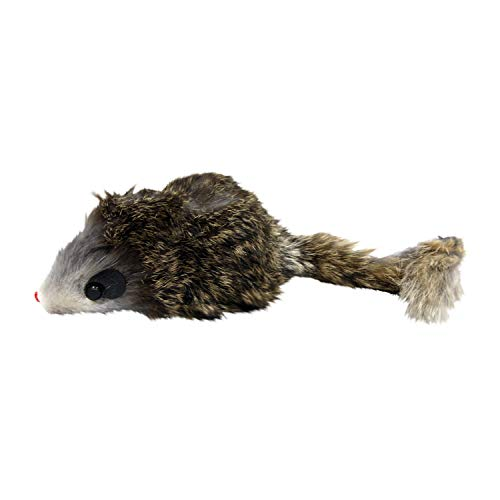 Ethical Shaggy Plush Giant Mouse Cat Toy with Catnip